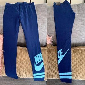 Blue Nike Leggings